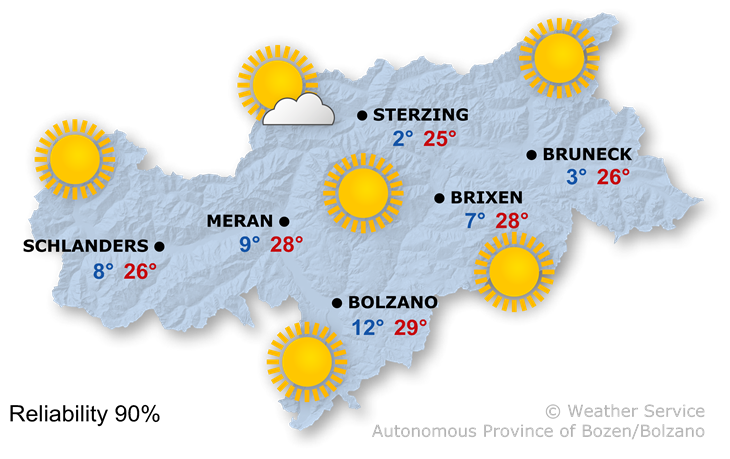 The weather today, 20.04.2018
