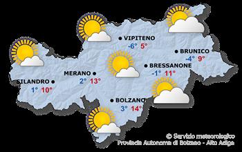 In prevalenza soleggiato, temperature piuttosto basse