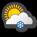 Wolkig, leichter Schneefall