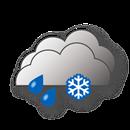 Bedeckt, Schneeregen