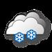 Coperto, nevicate moderate